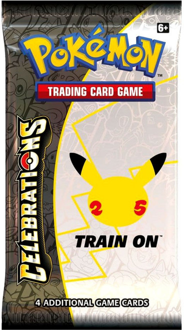 Pokemon Trading Card Game Celebrations Booster Pack [4 Cards]