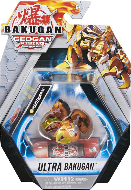 Geogan Rising Ultra Bakugan Pincitaur Ultra Single Figure & Trading Card