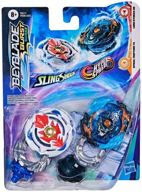Beyblade Burst Surge Slingshock / Hypersphere Lord Hydrax H5 & Spiral Treptune T4 Dual Pack