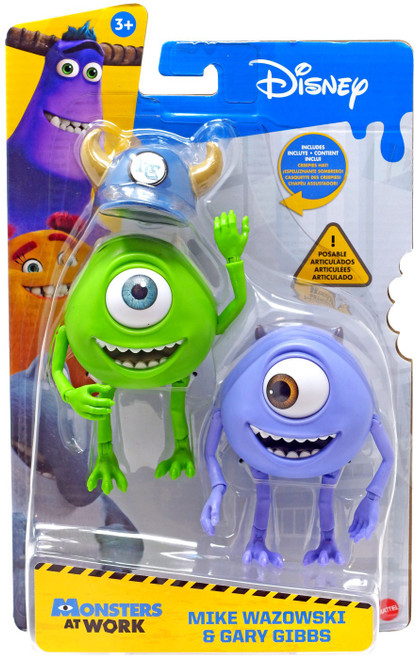 Disney / Pixar Monsters Inc Monsters at Work Mike Wazowski & Gary Gibbs Action Figure