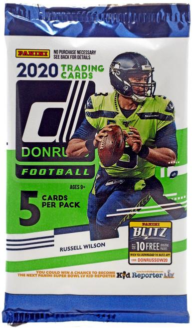 NFL Panini 2020 Donruss Football Trading Card Pack [5 Cards]