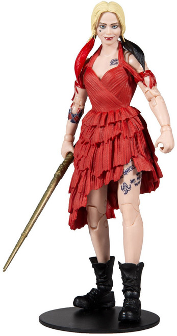 McFarlane Toys DC Suicide Squad Build-A King Shark Series Harley Quinn Action Figure