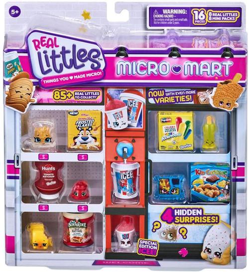 Shopkins Real Littles Season 15 Micro Mart Shopper 8-Pack [8 Shopkins & 8 Mini Packs, RANDOM Figures!] (Pre-Order ships October)