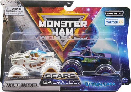 Monster Jam Gears Galaxies Soldier Fortune & El Toro Loco Exclusive Diecast Car 2-Pack