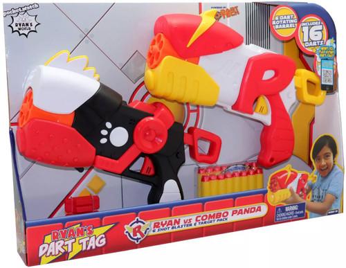 Ryan's World Ryan's Dart Tag Ryan vs Combo Panda Blaster 2-Pack