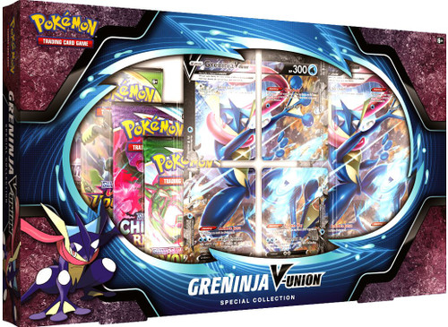 Pokemon Trading Card Game Greninja V-Union Special Collection [4 Booster Packs, 4 Promo Cards, Oversize Card & More]