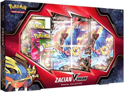 Pokemon Trading Card Game Zacian V-Union Special Collection [4 Booster Packs, 4 Promo Cards, Oversize Card & More]