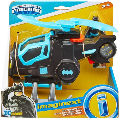 Fisher Price DC Super Friends Imaginext Batcopter 3-Inch Figure Set [2021]