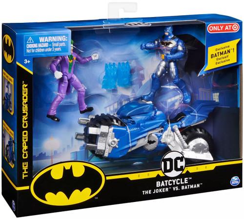 DC Batcycle with The Joker vs Batman Exclusive Action Figure Set