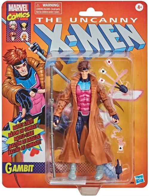 The Uncanny X-Men Marvel Legends Vintage (Retro) Series Gambit Exclusive Action Figure