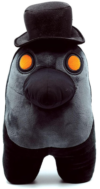 Among Us Black with Plague Doctor Mask 12-Inch Plush