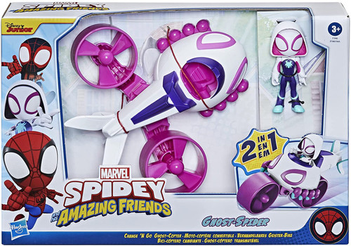 Marvel Spidey & His Amazing Friends Change 'N Go Ghost-Copter Vehicle [Ghost-Spider]