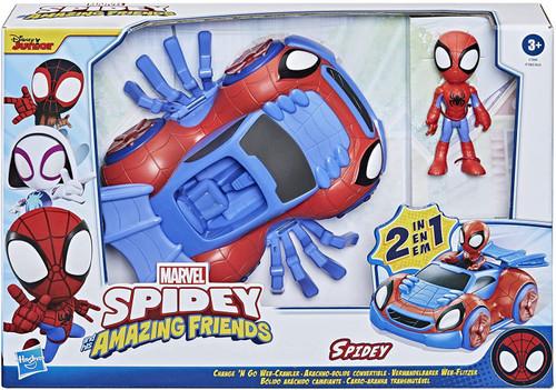 Marvel Spidey & His Amazing Friends Change 'N Go Web-Crawler Vehicle [Spidey]