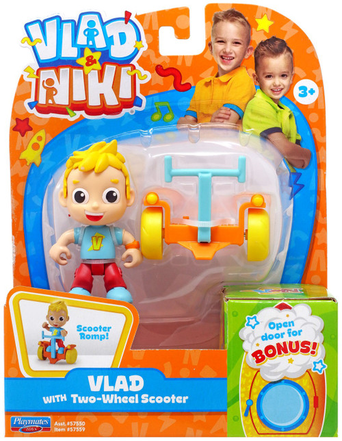 Vlad & Niki Vlad with Two-Wheel Scooter Figure Set