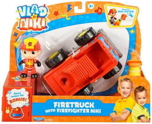 Vlad & Niki Firetruck with Firefighter Niki Vehicle & Figure