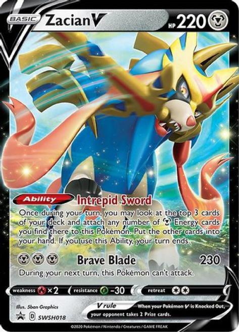Pokemon Sword & Shield Promo Zacian V SWSH018