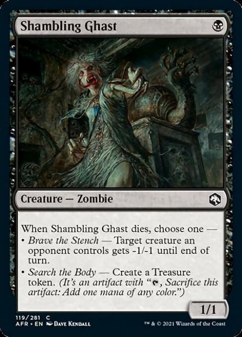 MtG Adventures in the Forgotten Realms Common Shambling Ghast #119