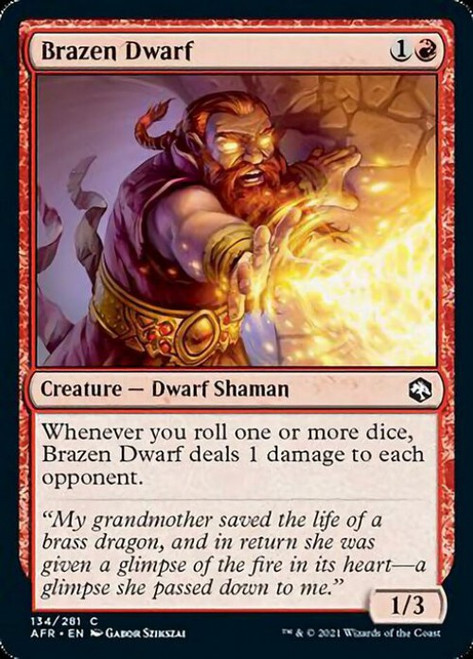 MtG Adventures in the Forgotten Realms Common Brazen Dwarf #134