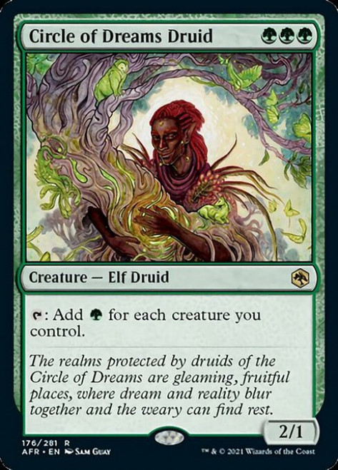 MtG Adventures in the Forgotten Realms Rare Circle of Dreams Druid #176