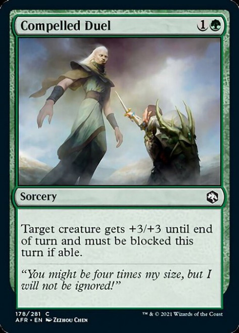 MtG Adventures in the Forgotten Realms Common Compelled Duel #178