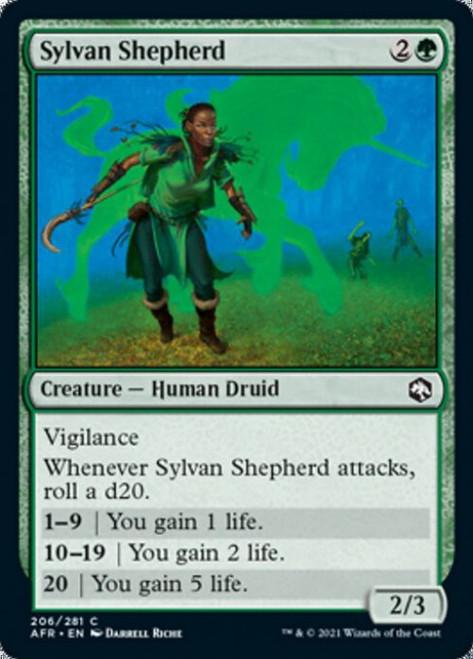 MtG Adventures in the Forgotten Realms Common Sylvan Shepherd #206