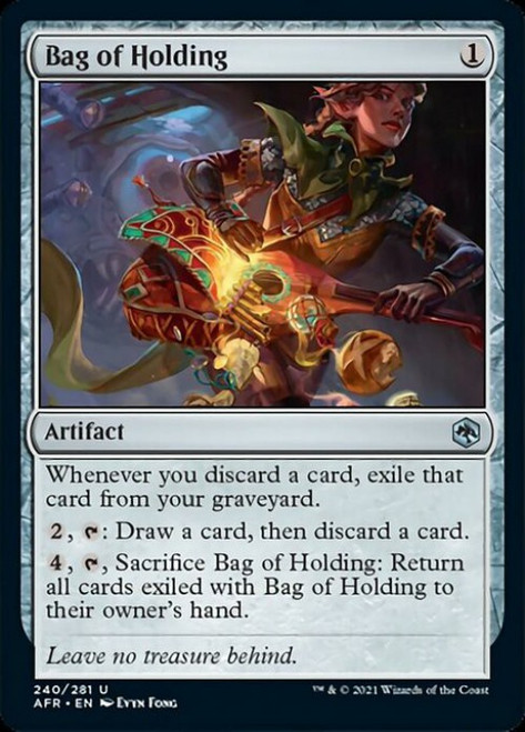 MtG Adventures in the Forgotten Realms Uncommon Bag of Holding #240