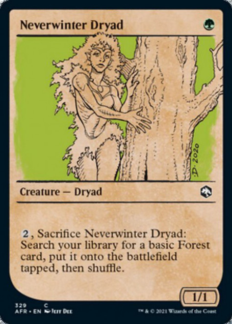 MtG Adventures in the Forgotten Realms Common Neverwinter Dryad #329 [Showcase]