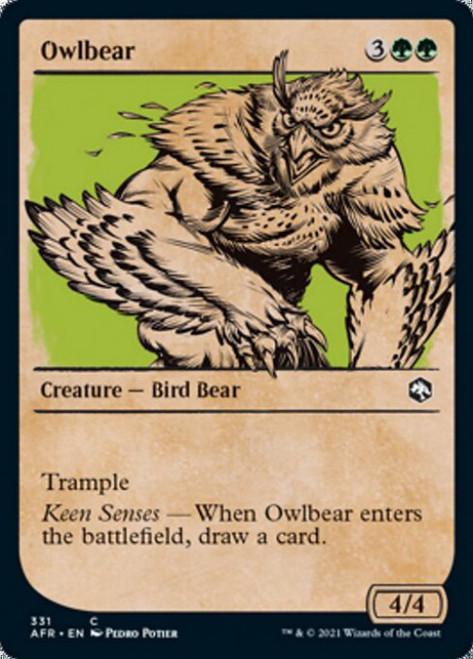 MtG Adventures in the Forgotten Realms Common Owlbear #331 [Showcase]