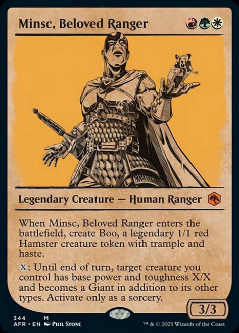 MtG Adventures in the Forgotten Realms Mythic Rare Minsc, Beloved Ranger #344 [Showcase]