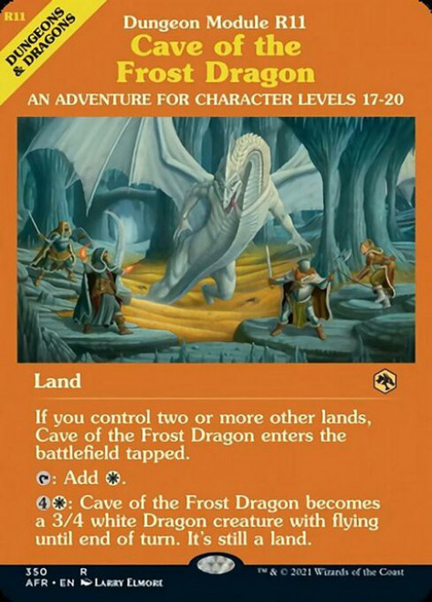 MtG Adventures in the Forgotten Realms Rare Cave of the Frost Dragon #350 [Showcase]