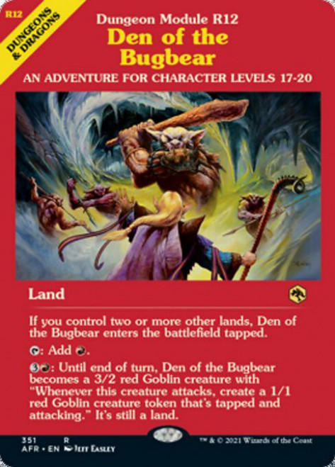 MtG Adventures in the Forgotten Realms Rare Den of the Bugbear #351 [Showcase]