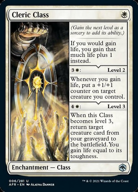 MtG Adventures in the Forgotten Realms Uncommon Foil Cleric Class #6