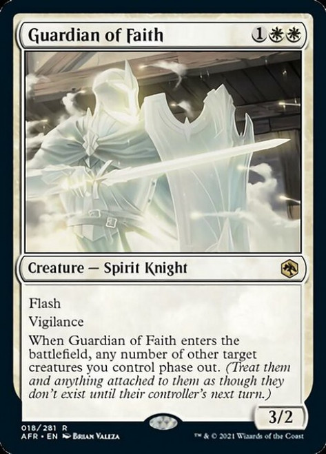 MtG Adventures in the Forgotten Realms Rare Foil Guardian of Faith #18
