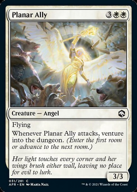 MtG Adventures in the Forgotten Realms Common Foil Planar Ally #31