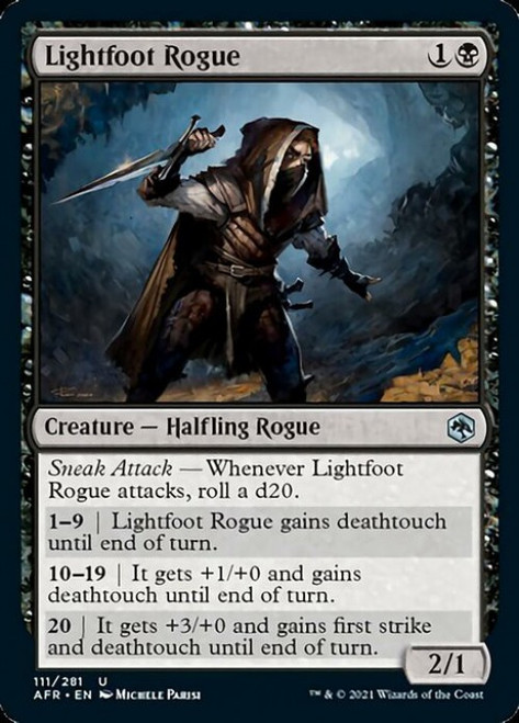 MtG Adventures in the Forgotten Realms Uncommon Foil Lightfoot Rogue #111