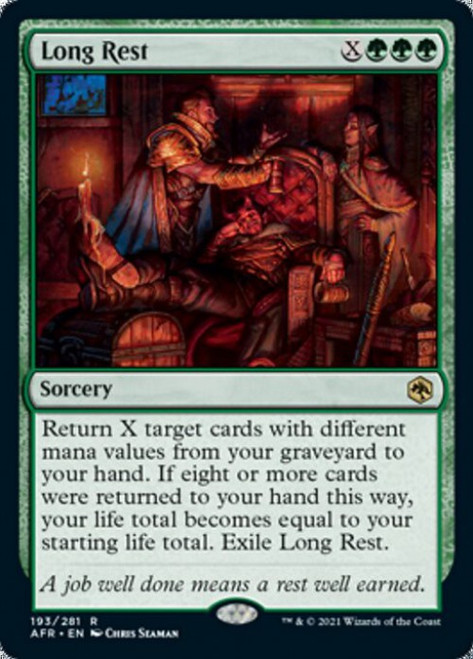 MtG Adventures in the Forgotten Realms Rare Foil Long Rest #193