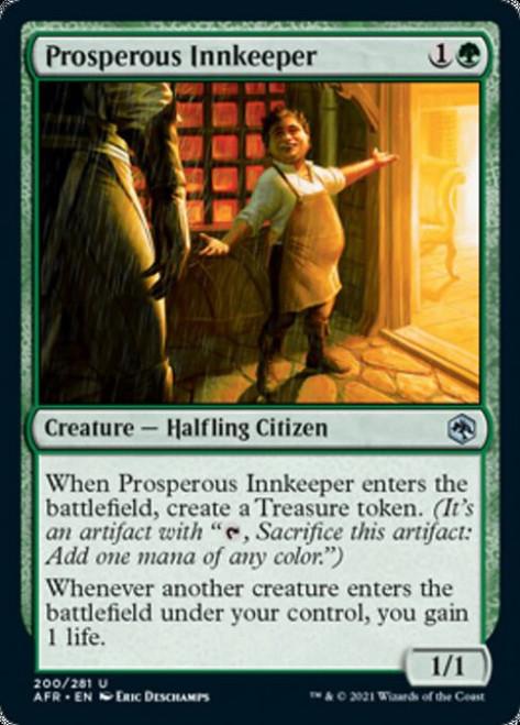 MtG Adventures in the Forgotten Realms Uncommon Foil Prosperous Innkeeper #200