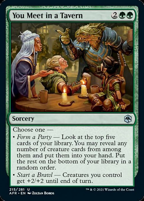MtG Adventures in the Forgotten Realms Uncommon Foil You Meet in a Tavern #215