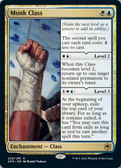 MtG Adventures in the Forgotten Realms Rare Foil Monk Class #228
