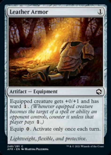 MtG Adventures in the Forgotten Realms Common Foil Leather Armor #248