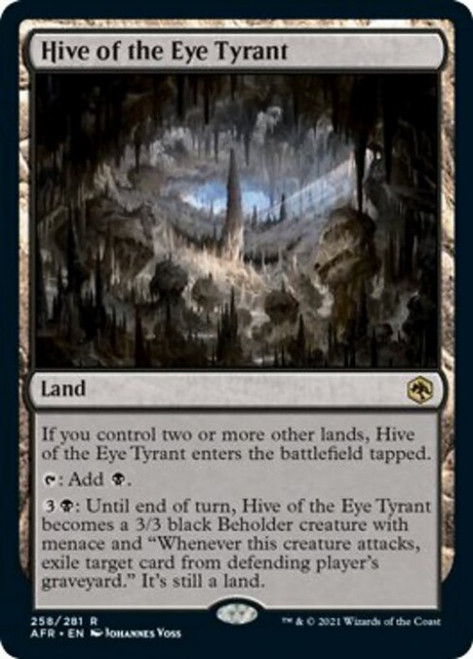 MtG Adventures in the Forgotten Realms Rare Foil Hive of the Eye Tyrant #258