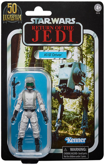 Star Wars Original Trilogy Black Series Lucasfilm 50th Anniversary AT-ST Driver Exclusive Action Figure