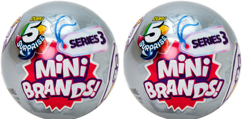 5 Surprise Mini Brands! Series 3 LOT of 2 Mystery Packs