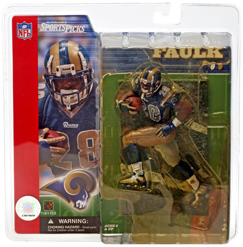McFarlane Toys NFL St. Louis Rams Sports Picks Series 2 Marshall Faulk Action Figure [Blue Jersey, Yellow Package] [yellow packaging]