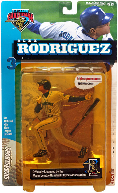 McFarlane Toys MLB Seattle Mariners Sports Picks Big League Challenge Alex Rodriguez Exclusive Action Figure [Yellow Package] [yellow packaging]