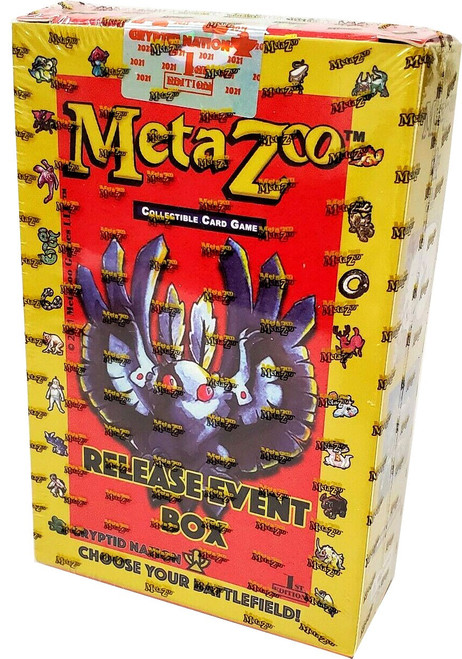 MetaZoo Trading Card Game Cryptid Nation Base Set Release Event Box [1st Edition]