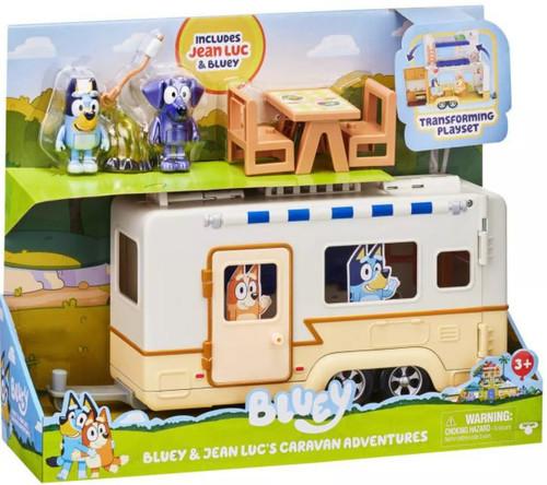 Bluey & Jean Luc's Caravan Adventures Exclusive Transforming Playset