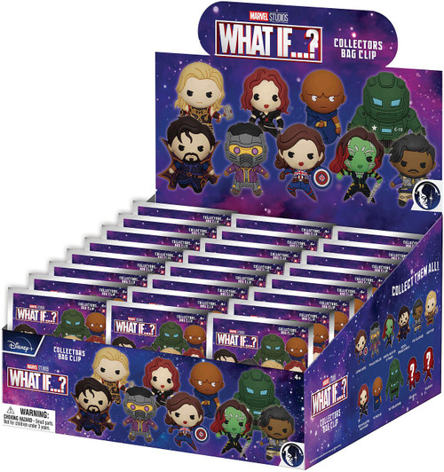 3D Figural Keyring Marvel What If? Series 1 Marvel Series 1 Mystery Box [24 Packs]