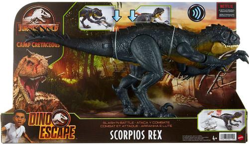 Jurassic World Camp Cretaceous Dino Escape Scorpios Rex Action Figure [Slash 'N Battle]