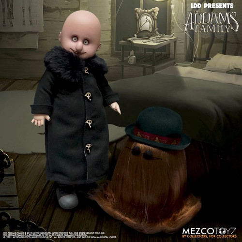 Living Dead Dolls The Addams Family LDD Presents Uncle Fester & It 10-Inch Doll 2-Pack (Pre-Order ships June 2022)